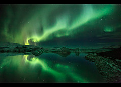 Ice & Aurora - Jökulsárlón (orvaratli) Tags: travel sky reflection landscape star iceland lagoon glacier arctic iceberg northernlights auroraborealis jokulsarlon borealis jökulsárlón icelandic glacierlagoon solarstorm magneticstorm Astrometrydotnet:status=failed arcticphoto breiðarmerkursandur iceaurora jökulsárlónábreiðarmerkursandi örvaratli orvaratli Astrometrydotnet:id=alpha20100489505323