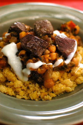 Moroccan lamb with gf couscous