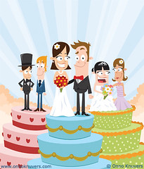 Ponsonby News April Cover: Weddings and Civil Unions (Onno Knuvers) Tags: wedding news cake illustration design character union civil ponsonby