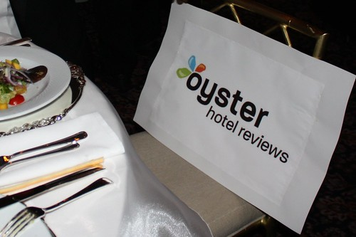 Thats right: I got to sit next to an inanimate representation of Oyster.com. Jealous?