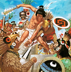 Aztec Empire (cool-art) Tags: costumes southamerica mexico pyramid clubs ritual mayas sacrifice shields aztecs toltecs ancientcivilisations
