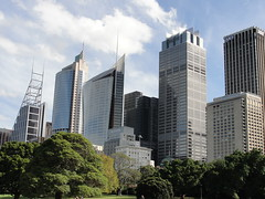 Central Business District from Royal Botanic Gardens (RachelH_) Tags: trees skyscrapers sydney australia royalbotanicgardens centralbusinessdistrict