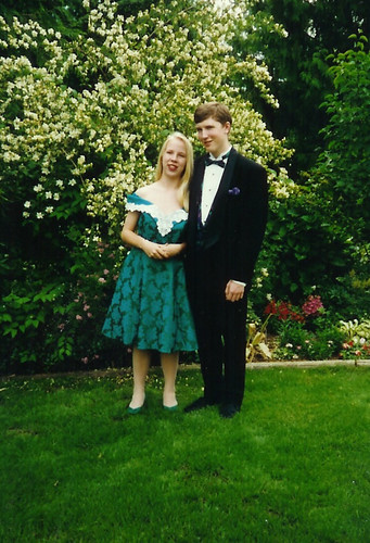 Amber and Jon, all dolled up for high school graduation