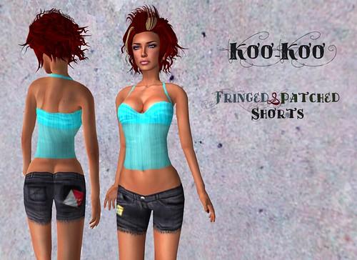Koo-Koo - Fringed&Patched Shorts