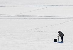 Ice Fishing (Steve Lindenman) Tags: fish snow ice fishing sweden sverige minimalism minimalist falun vika cpmg0113sa