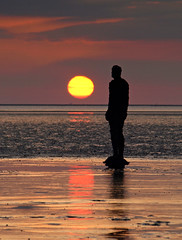Tranquility (Mr Grimesdale) Tags: sunset beach liverpool olympus mersey gormley crosby antonygormley merseyside sefton e510 anotherplace rivermersey mrgrimsdale stevewallace mrgrimesdale