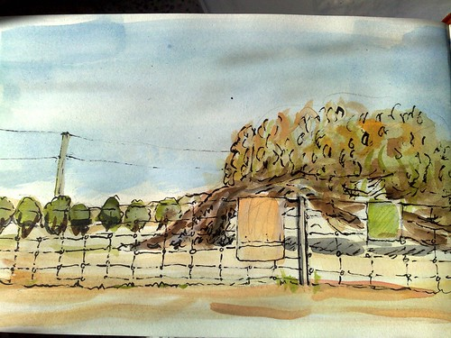 watercolour sketch at lynton
