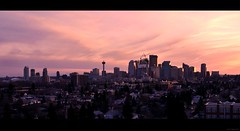 Calgary Sunset (Surrealplaces) Tags: sunset calgary skyline downtown cityscape alberta
