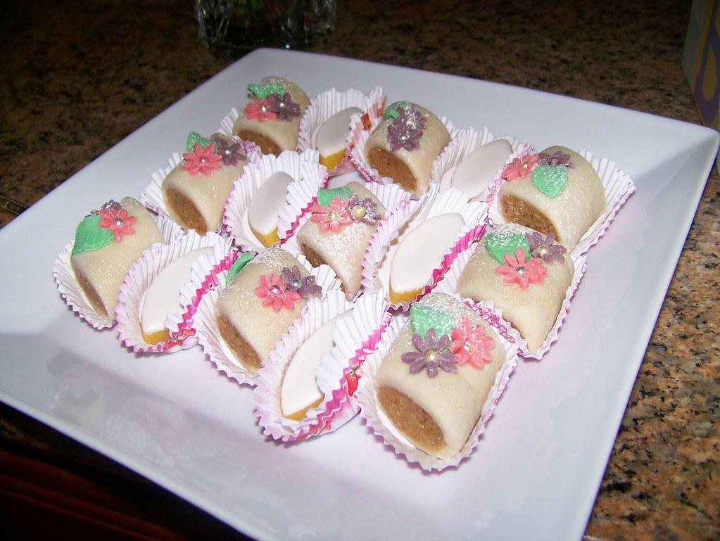 Algerian Marzipan cookies (flowers)
