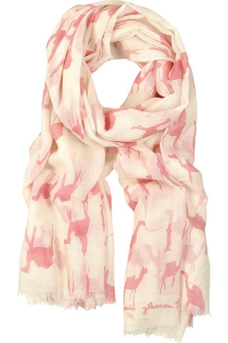 camel print scarf net