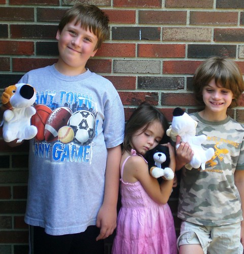 All three won cuddly prizes!