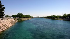 Dammed up Pecos River at Carlsbad