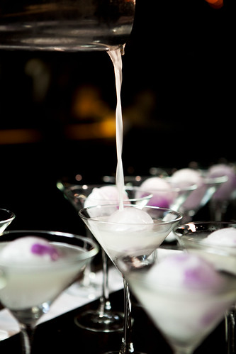 Pouring the White Cosmopolitan