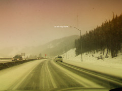 <home> coming. (Adriene Hughes) Tags: snow mountains colorado experimental random text mobilephonecamera cellphonephoto darrendavis