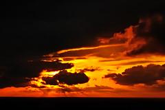 [フリー画像] 自然・風景, 夕日・夕焼け・日没, 空, 雲, デンマーク王国, 201005051700
