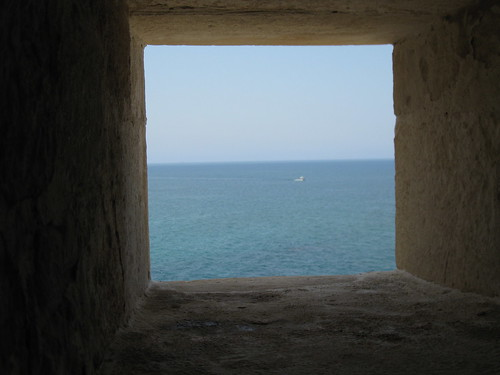A view of the sea from in the fort