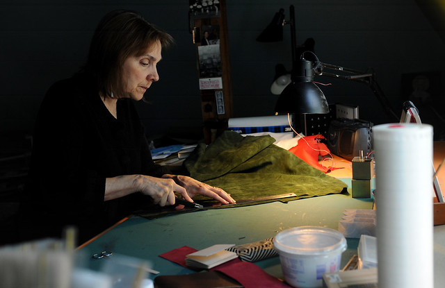 Barbara Brown at her home studio by AnnArbor.com