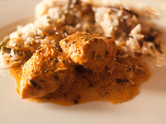 Fire Indian Dinner - murg makhani with sabzi biryani