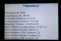 BlackBerry Bold 9000 OS5.0.0.464