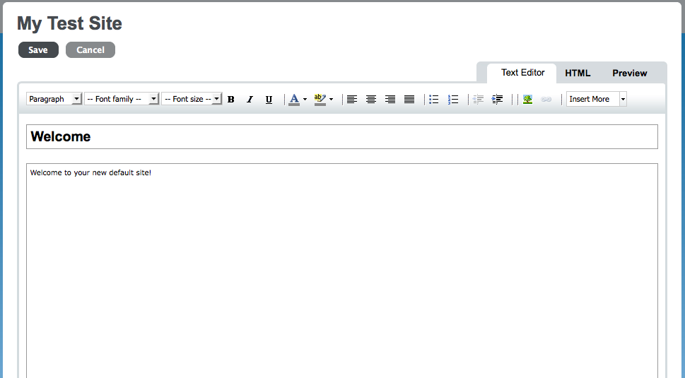 Sakai 3 editing toolbar