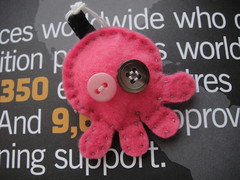 DSC01122 (myLil'Talent) Tags: pink handmade buttons crafts felt charm octopus cutegifts