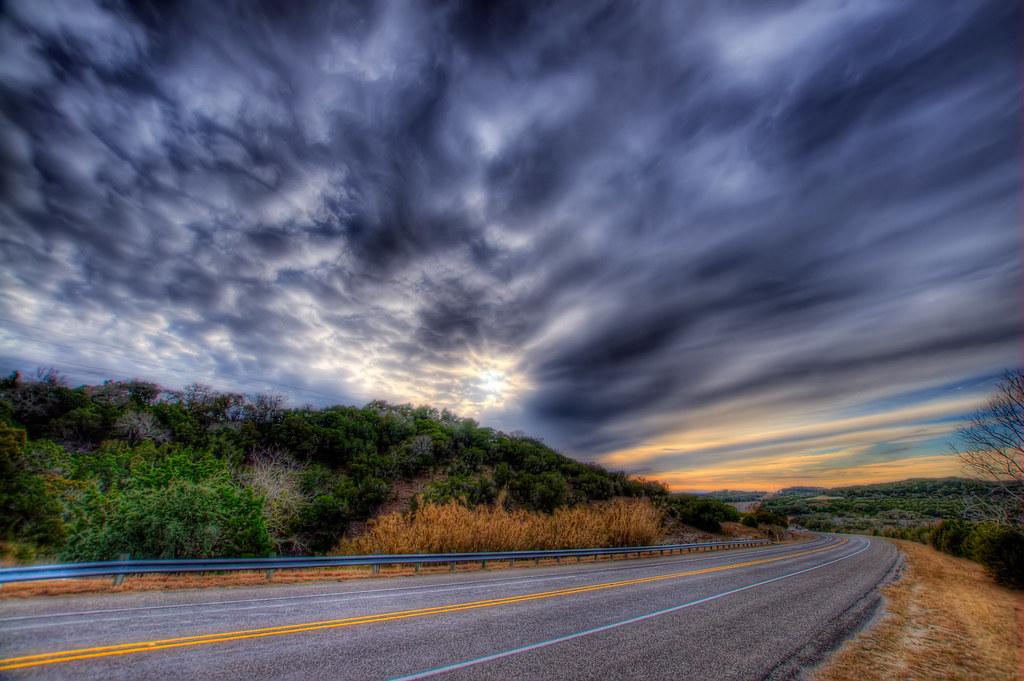 A highway near San Marcos, Texas.