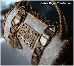 Versace Purse/Bag Cake (Cakes.KeyArtStudio.com) Tags: white fashion cake bag gold design lemon designer chocolate purse truffle couture versace fondant gumpaste edibleimage versache sugarpaste
