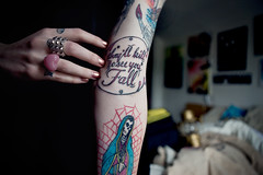 """""""They'll kill to see you fall"""" (We the Living Photography) Tags: fall tattoo see kill hand you quote lettering drawn theyll"""