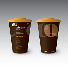 CafeQue (nagy daniel) Tags: emblem logo typography design graphic identity package branding cafeque statyonary