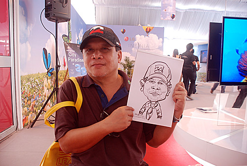 caricature live sketching for LG Infinia Roadshow - day 1 - 11