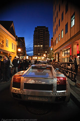 IMG_3898-1-3 (hypersapiens) Tags: toronto ontario canada cars car silver rally wrap super chrome 3000 lamborghini gumball yorkville lambo chromed thegumball