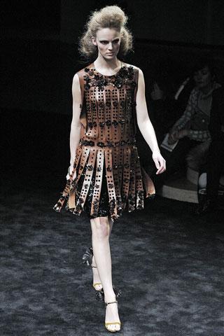 Prada FW2010 Centurion dress