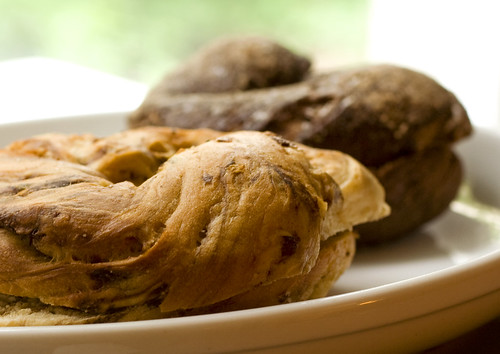Chocolate Peanut Butter Bagels