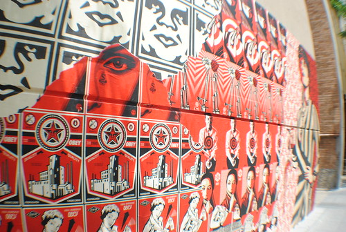 Obey mural