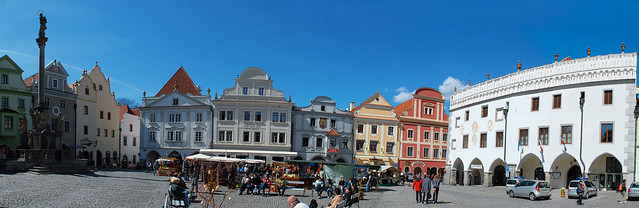 Cesky Krumlov 庫倫諾夫 全景圖4:舊城廣場 Old Town Square