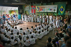 United for Peace... (carf) Tags: girls brazil art boys sport brasil kids children hope dance kid community capoeira child hummingbird traditions esperana social skills folklore philosophy martialarts batizado capoeirabeijaflor beijaflor ecbf 17thbatizado