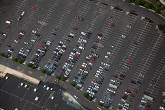 parking lot (dougschneiderphoto) Tags: above usa cars car landscape flying store newjersey spring parkinglot aviation nj aerial blimp airship dirigible manville snoopyone