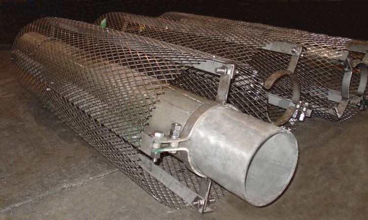 Heat Duct Supports : Personnel protection shields for high temperature lines