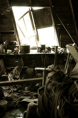 Neglect (Ben Moen, Cinematographer) Tags: old junk rust mess neglected shed shack leaning