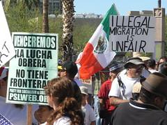 Protesters and Counter-Protesters (xomiele) Tags: arizona news phoenix march protest protesta immigration protesters debate marcha reform 1070 protestas sb1070 altoarizona xomiele