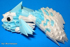 Peixe Origami Block Folding 3D