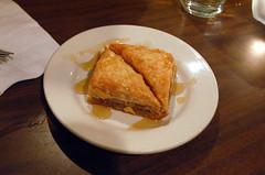 Baklava, Ras Dashen (pjchmiel) Tags: chicago baklava veganfood vegandessert