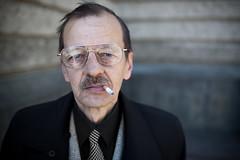 A Stranger: Lviv, Ukraine (Benoit.P) Tags: light portrait man color art glass 35mm project mood natural benoit cigarette smoke stranger ukraine nophotoshop soc paille f15 sooc benoitp 5dmarkii 5dmark2 straightoutcamera