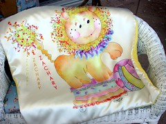 Mc Lion personalzied Baby Blankets by Rosanna Hope For Babybonbons (rosanna hope) Tags: original boy baby art girl toddler circus unique name lion plush special fabric blanket handpainted fleece personalized silky minke luxurious minky blankee charmeuse minkee microsuede showergift customprinted babybonbon rosannahope babybonbonsetsy