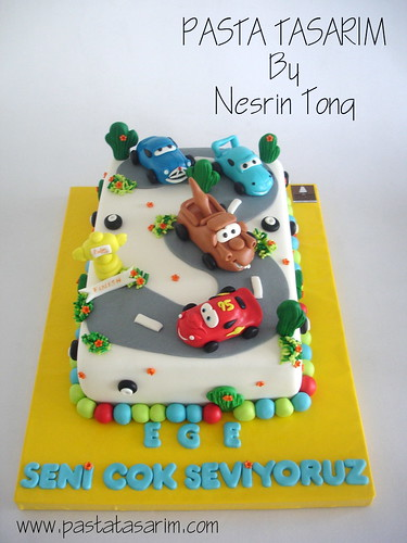CARS BIRTHDAY CAKE - EGE