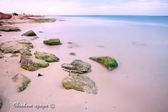 Silence: Sleep Beach locations that Tripoli (Azaga ) Tags: life travel sea white black tourism beach rock that photography sevilla long exposure sleep abraham calm silence beaches libya tripoli  metabolism locations    scoglio                 aezagp