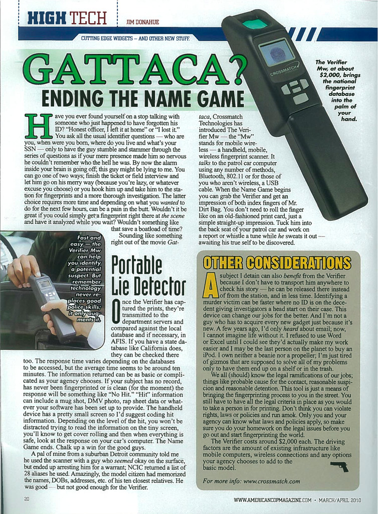 American Cop Magazine March/April 2010 page 20