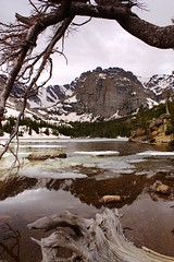 Loch Lake Reflection (OpalMirror) Tags: park mountain lake reflection colorado rocky vale national loch geology schist
