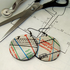 Sewing Pattern Earrings (weggart) Tags: pattern sewing earrings sewingpattern
