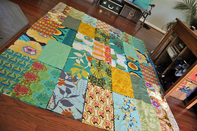 picnic quilt in progress 2